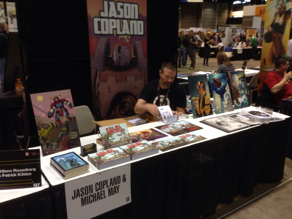 Jason sets up for C2E2